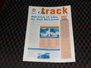 GULF McLAREN F1 GTR 1995 ON TRACK info sheet - #5 Jerez Report/Nurburgring Preview